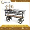 Industrial Kitchen Cart Trolley On Wheel