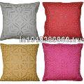Cotton Cut Work Cushion Cover