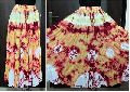 tie-dyed cotton skirt