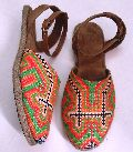 Handcrafted Handmade Khatliwork Embroidery Half Covered Belly shoe