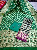 Banarasi Handloom semi katan silk dress materials