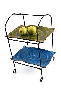 Rot Iron two Tier Square Fruit Stand