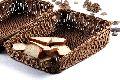 Taper Rattan Basket Dark Brown