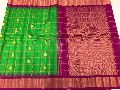 Pure Handloom Gadwal Checks Butta Sarees