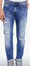 Mens Damage Jeans