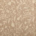 Techmal White Crewel Wool Embroidered Natural Linen Fabric