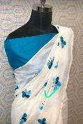 Handloom Pure Linen Embroidery Saree