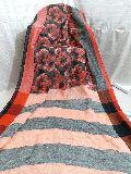 Handloom Pure Print Linen Saree