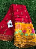 Pure banarasi crepe weaving sarees with blouse
