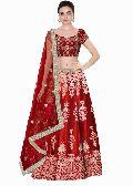 Red Dori Work Art Silk Lehenga Choli