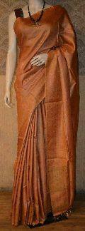 Orange Silk Muga Saree
