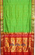 Singal Pallu Paithani Silk saree.