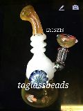 Black Tube Honey Comb Glass Bong