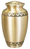 99155 Beautiful Satin finished Brass Urn