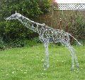 Decorative Iron Giraffe Sculpture