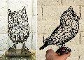 Decorative Iron Owl Sculpture