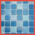 Sky Blue Glass Mosaic Tile