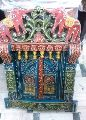 WOODEN HAND PAINTED WALL JHAROKHA WITH OPEN DOOR