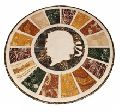 Round Marble Mosaic Inlaid Coffee Table