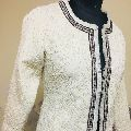 Hand embroidered Pearl pique jaquard jacket