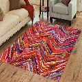 Trendy Colourful Waves Printed Cotton Carpets