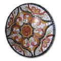 Marble stone mosaic coffee table top