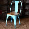 wooden seat Retro Dining Chair