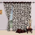 Cotton Damask Pattern Door Curtains