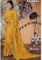 5492 Laxmipati Yellow Chiffon Bollywood Cafe Saree