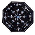 Marble Coffee Table Top Semi Gemstone Art