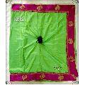 Green Plain Silk Saree