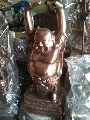 Copper Laughing Buddha Statue