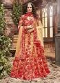 Golden Colored Pure Silk Bridal Lehenga