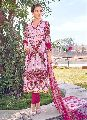 Pink Colored Cotton Printed Suit