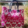 Embroidered cotton Suzani Bags