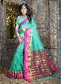 Light Green Colour Cotton Silk Woven Work Saree