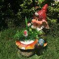 Wonderland Dwarf / Gnome Climbing Mushroom Planter With Flower