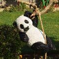 climbing rope Panda Garden Decor Statue