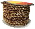 Lacethin Strip Maroon Base Gold Embroidery Lace