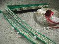 order lace trim, velvet green base