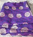 Silk Brocade Jacquard Fabric by Meter Purple Buti Gold Embroidery Dress Material