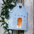 Blue Metal Bird House
