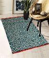 Green Diamond Pattern Cotton Rugs