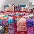 Patchwork Patola Bedspread