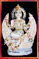 brahmani maa white marble statue