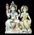 Shiva Family marble statue(murti)