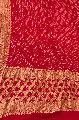 Red Bandhani Banarasi Dupatta