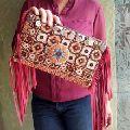 bohemian ethnic design vintage embroidery banjara suede leather tassel