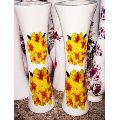 22 Inch Floral Printed Wooden Flower Pot