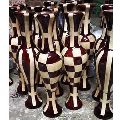 24 Inch Checkered Wooden Flower Pot